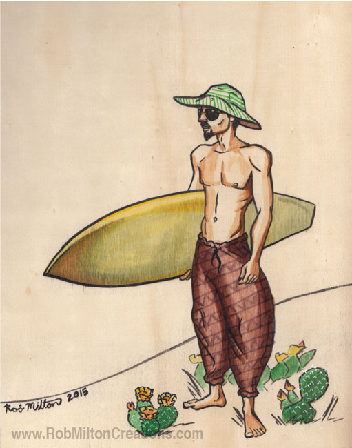 Lost Surfer Illustration