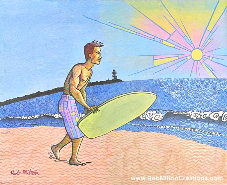 Surf Tainan Illustration